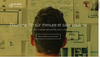 Capture d'écran du site de Phi Beta Consulting