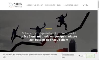 Site internet de Phi Beta-Consulting