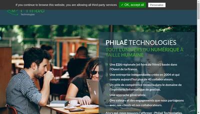 Site internet de Philae Technologies