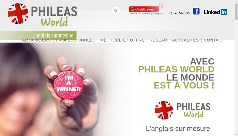 Capture d'écran du site de Phileas World