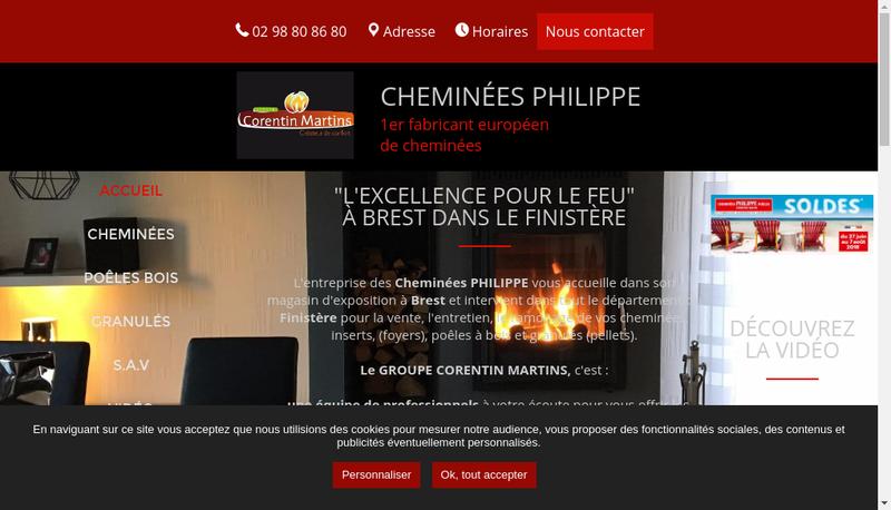 Site internet de Cheminees Philippe