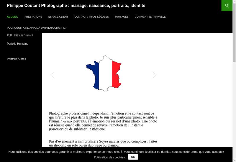 Capture d'écran du site de Philippe Coutant