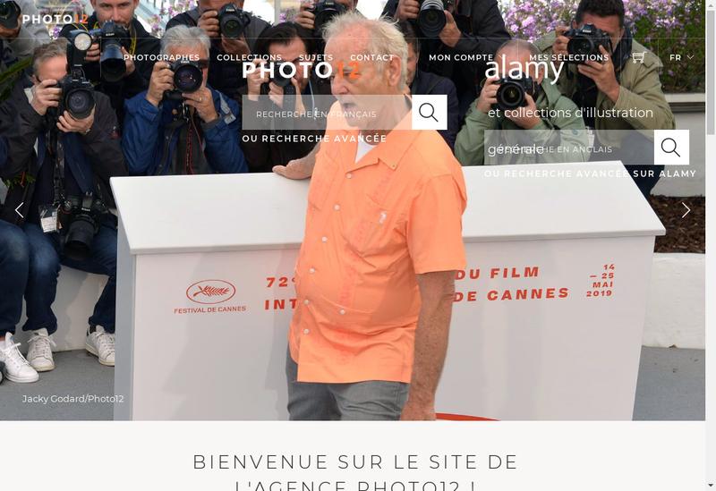 Capture d'écran du site de Photos 12