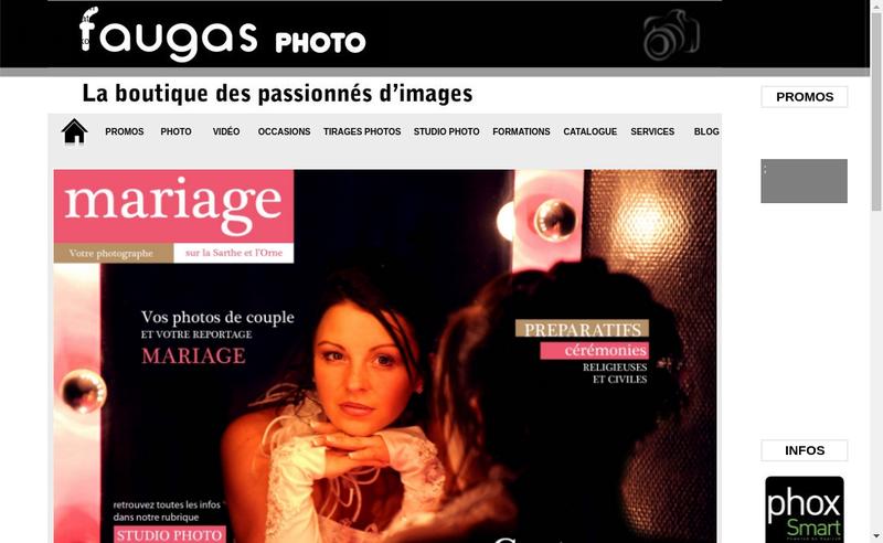 Capture d'écran du site de Shop Photo Video