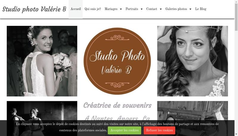 Capture d'écran du site de Studio Photo Valerie B