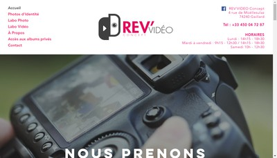 Site internet de Rev'Video Concept