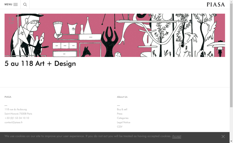 Capture d'écran du site de Piasa
