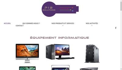 Site internet de PIB Solutions