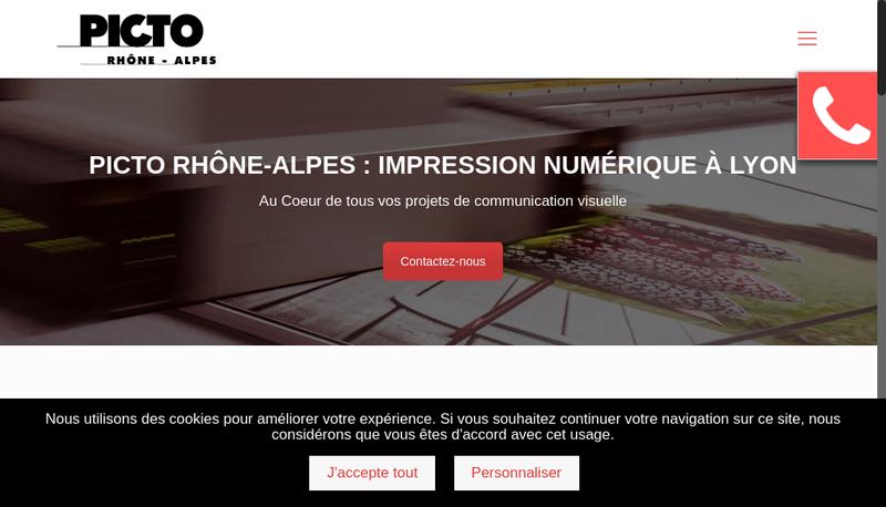 Capture d'écran du site de Picto Rhone Alpes