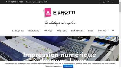 Site internet de Imprimerie Pierotti