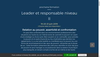 Site internet de Pierre Nicot Conseil et Formation
