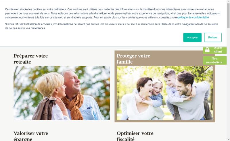 Capture d'écran du site de Pierre et Placements