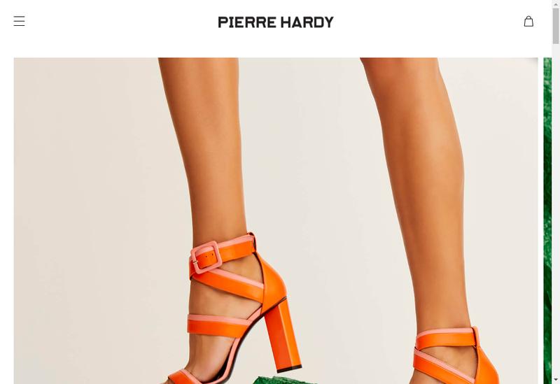 Capture d'écran du site de Maison Pierre Hardy