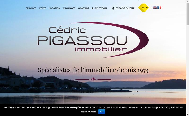 Capture d'écran du site de Agence Pigassou