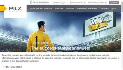 Site internet de Pilz France
