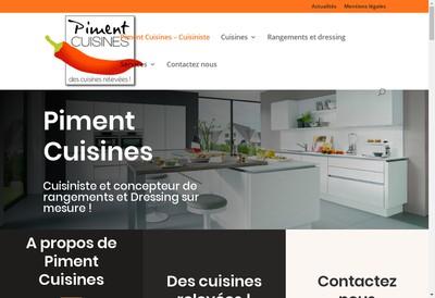 Site internet de Piment Cuisines