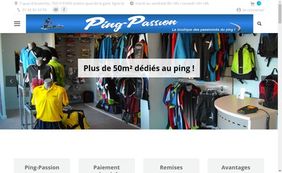 Site internet de SARL Ping Passion