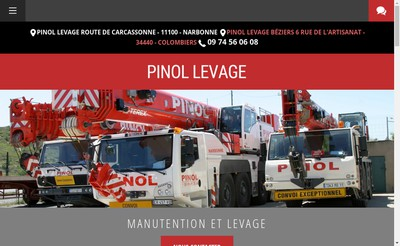 Site internet de Pinol Levage