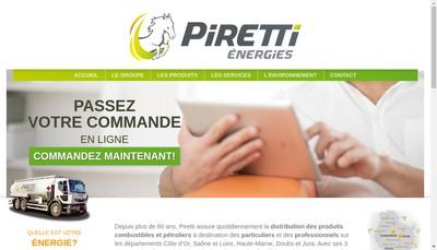 Site internet de Piretti