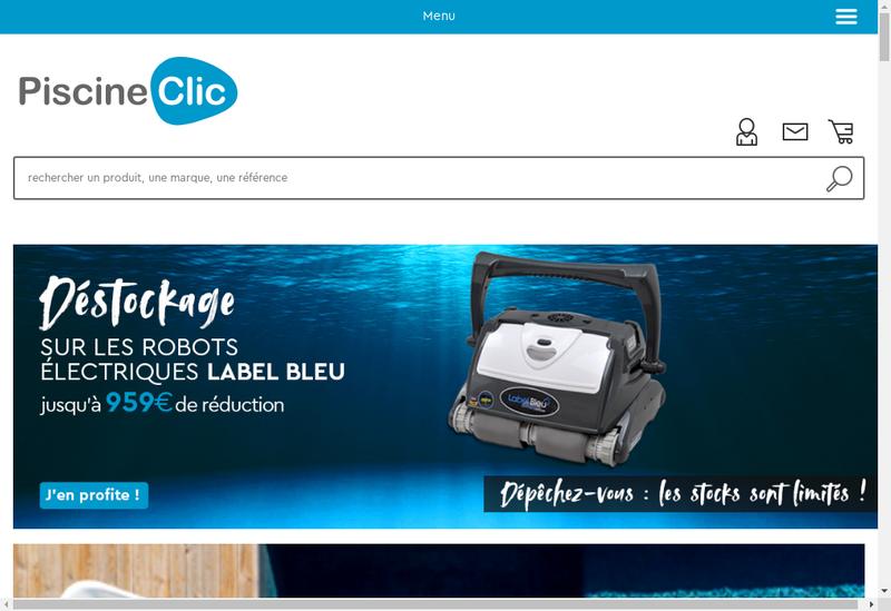 Capture d'écran du site de Piscine Clic