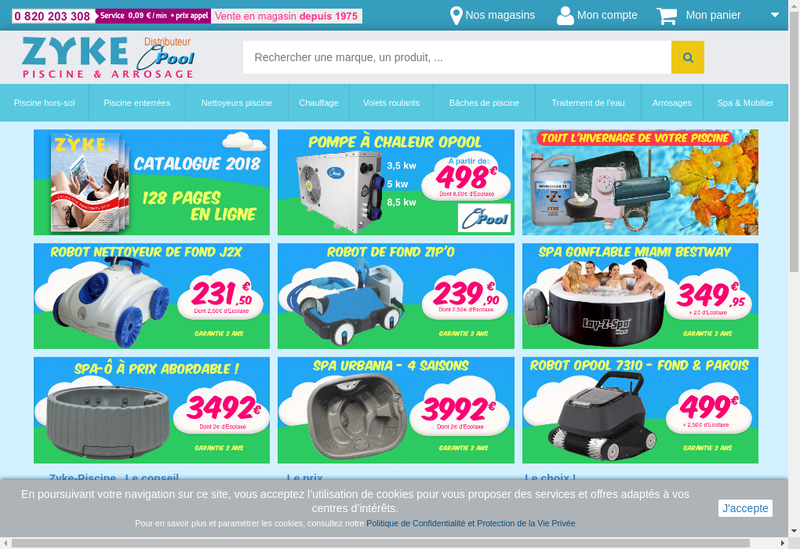 Capture d'écran du site de Ets Zyke
