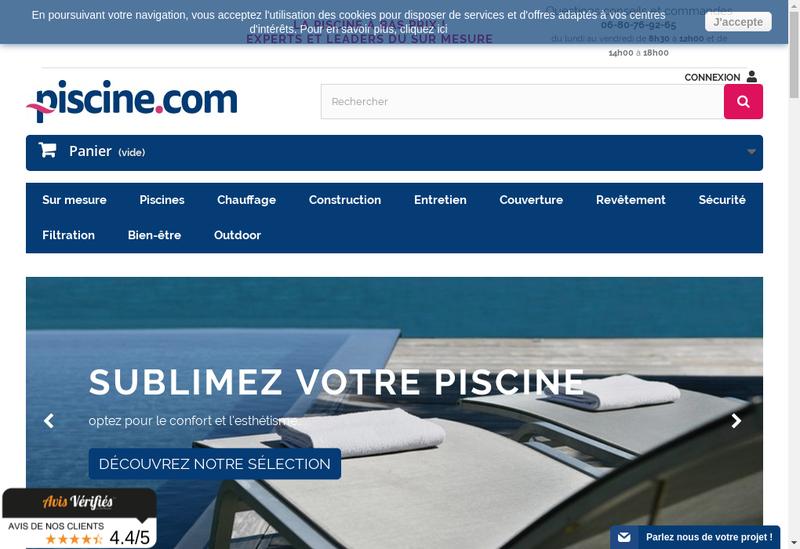 Capture d'écran du site de Aquaccessoires
