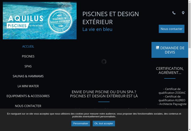 Capture d'écran du site de Piscine et Design Exterieur