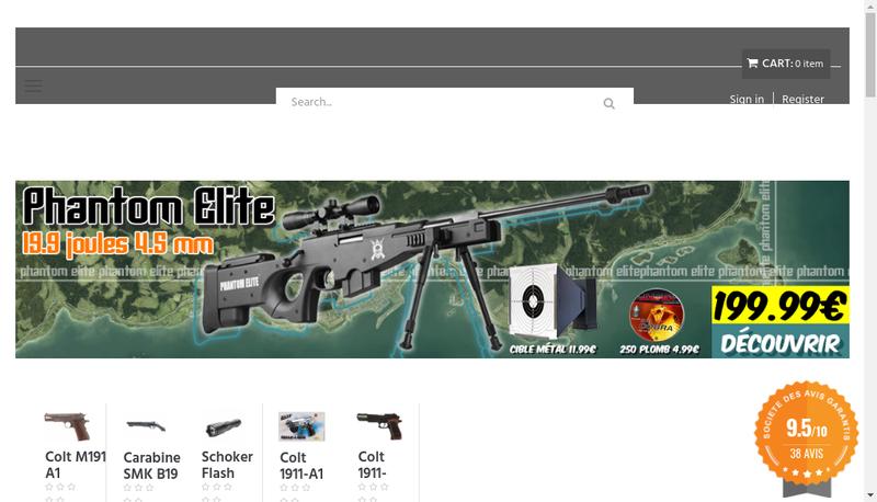 Capture d'écran du site de Hecate