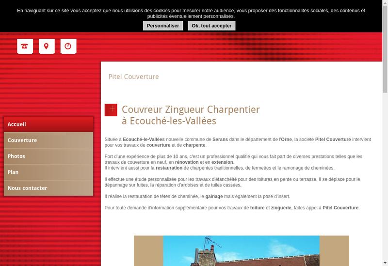 Capture d'écran du site de Pitel