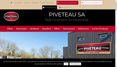 Site internet de Charcuterie Salaisons Piveteau