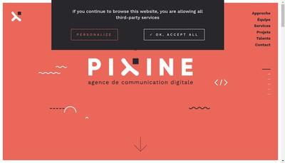 Site internet de Pixine