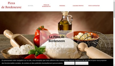 Site internet de Pizza de Bordeneuve