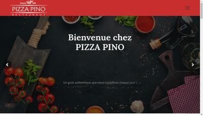 Site internet de Pizza Pino