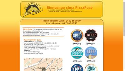 Site internet de Pizza Puce