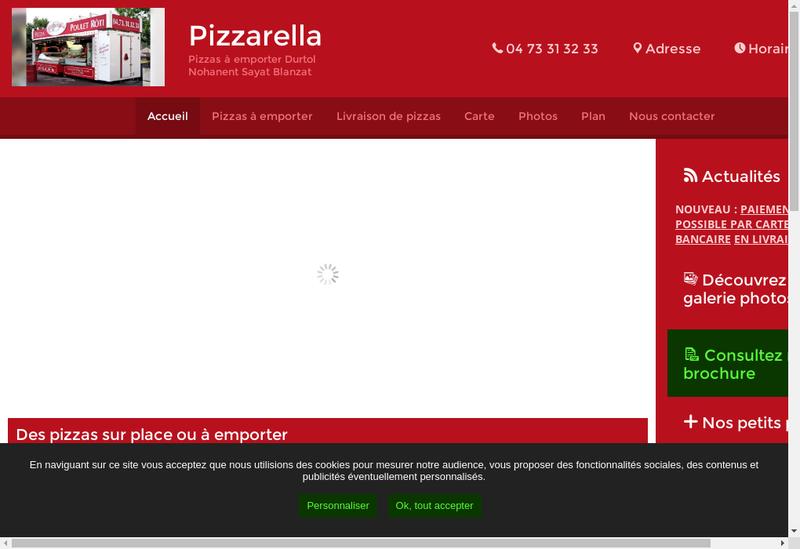 Capture d'écran du site de Little Italy Tony
