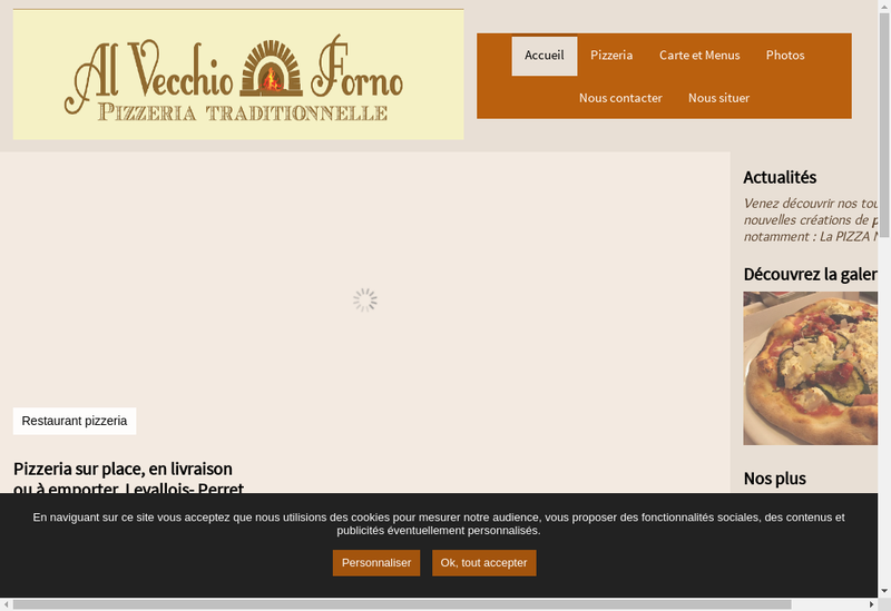 Capture d'écran du site de Curlytigre