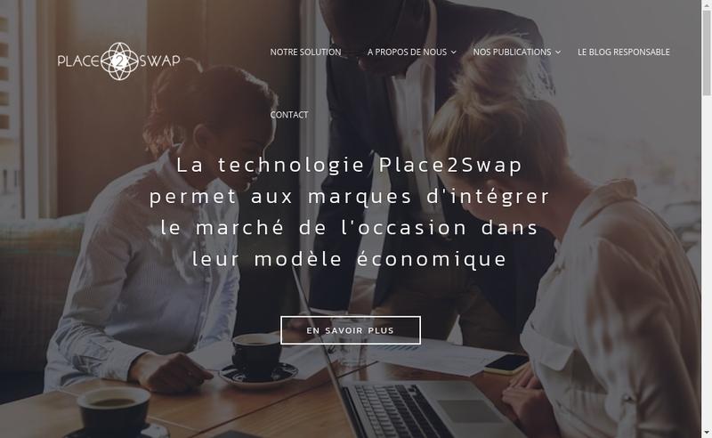 Capture d'écran du site de Place2Swap