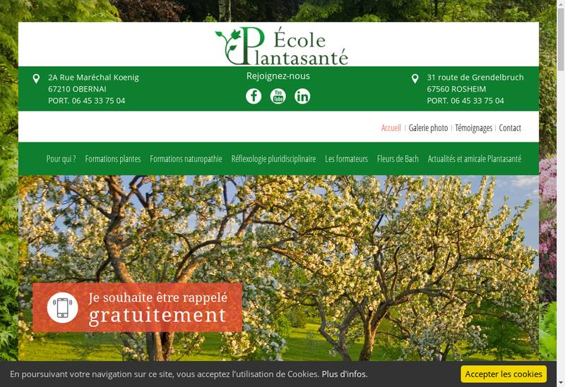 Capture d'écran du site de Ecole Plantasante