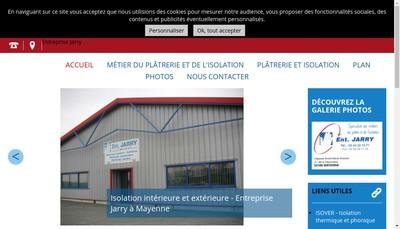 Site internet de Entreprise Jarry
