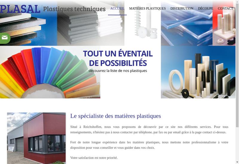 Capture d'écran du site de Plasal