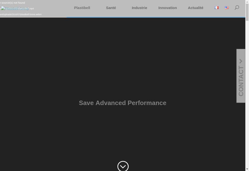 Capture d'écran du site de Plastibell Industrie