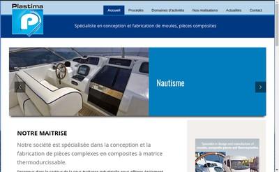 Site internet de Plastima Composites