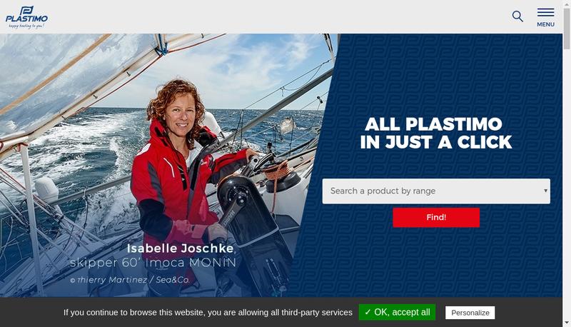 Capture d'écran du site de Plastimo