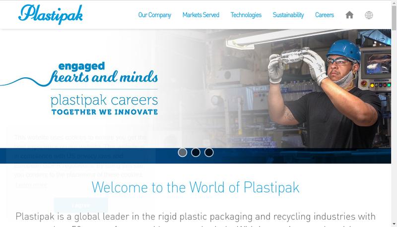 Capture d'écran du site de Plastipak Packaging France