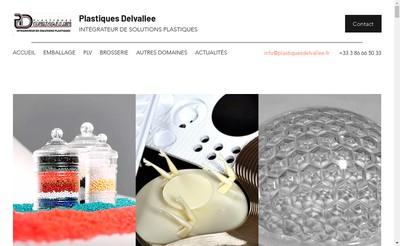 Site internet de Plastiques Delvallee