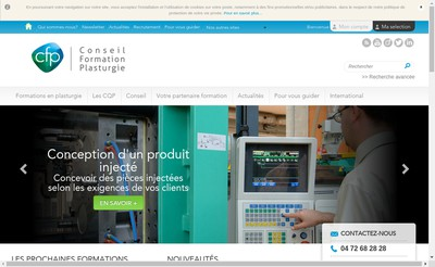 Site internet de Conseil Formation Plasturgie
