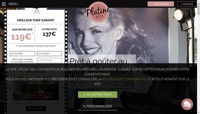 Site internet de Hotel Platine