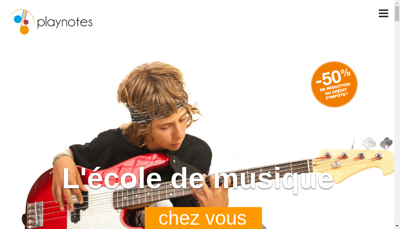 Capture d'écran du site de Play Notes