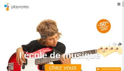 Site internet de Play Notes