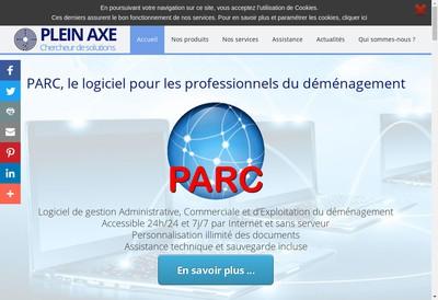 Site internet de Plein Axe